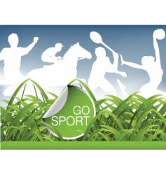 sports field vector image
