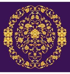 Ornate elemen in eastern style on deep violet vector