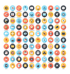 Long shadow web icons vector