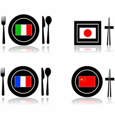International cuisine vector