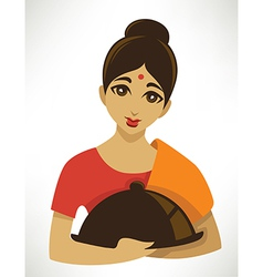cartoon indian menu vector image
