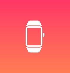Smart Watch Flat Design Icon vector image