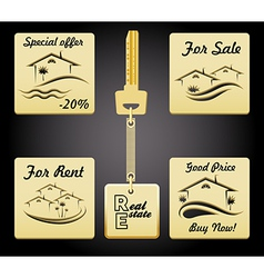 Real estate badges vector
