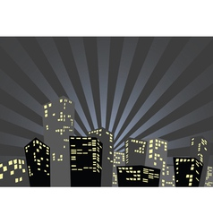City in the night vector