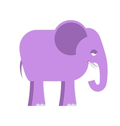 Purple elephant big cute animal animal from jungle vector