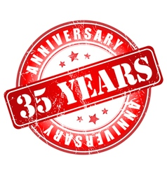 5 years anniversary stamp vector