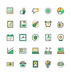 User Interface and Web Colored Icons 8 vector image