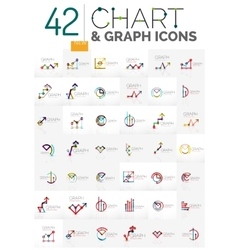Collection of chart logos vector