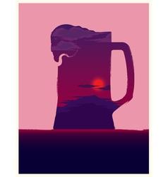 Beer mug symbol vector