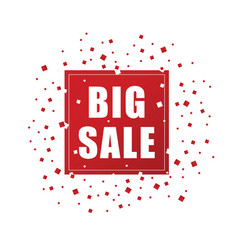 big sale in red color icon vector image