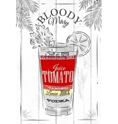 Bloody mary cocktail vector image vector image
