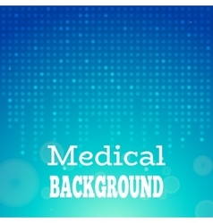 Blue medical background vector image vector image