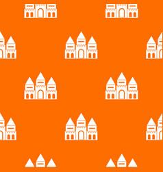 Children house castle pattern seamless vector