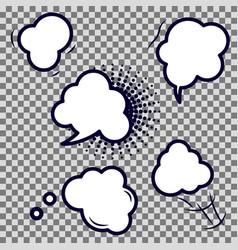Comic speech bubble empty icons vector