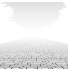 Concrete block pavement vector image vector image