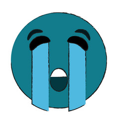 Crying eyes emoji icon image vector