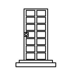 door with stairs vector image vector image