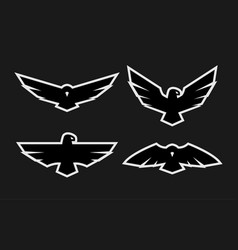 Eagle a set of monochrome logos vector