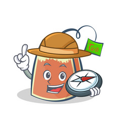 Explorer tea bag character cartoon vector