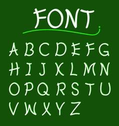 Font abcs modern design vector