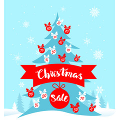 holiday sale card vector image vector image