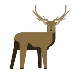Isolated abstract deer vector