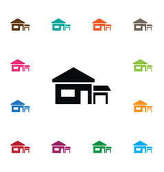 Isolated ranch icon farmhouse element can vector