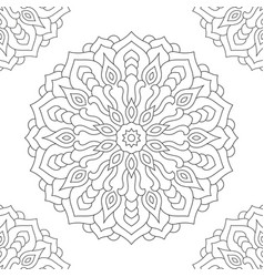 mandala coloring page for adults vector image vector image