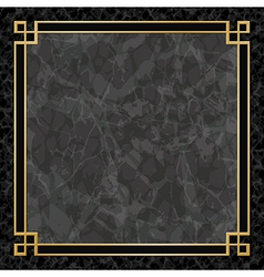 Marble Backgrounds with Gold Frame vector image vector image