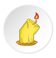 Melting candle icon cartoon style vector