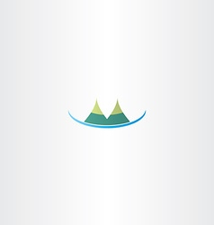 mountain hills icon vector image vector image