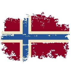 Norwegian grunge flag vector image vector image