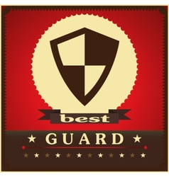 Protection shield sign concept style design vector image vector image
