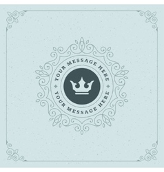 Royal Logo Design Template Decoration vector image
