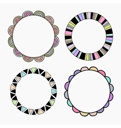 Set of four different colored frames vector