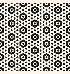simple geometric seamless pattern with hexagons vector image vector image