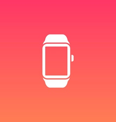 Smart Watch Flat Design Icon vector image