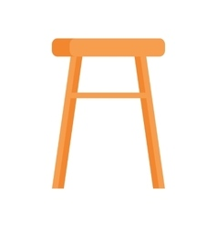 Stool in flat design vector