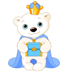 The polar bear as a biblical magi vector