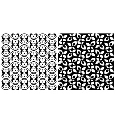 Two seamless backgrounds with ornamental patterns vector image