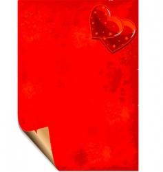 valentine paper grunge background vector image