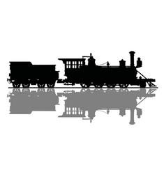 vintage american steam locomotive vector image vector image