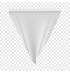 white pennant hanging mockup realistic style vector image