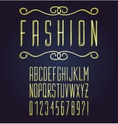 dotted font vector image