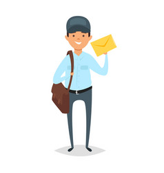 Cartoon style of postman vector