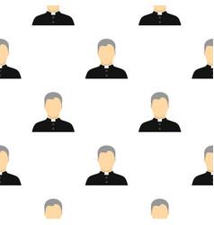 Catholic priest pattern flat vector