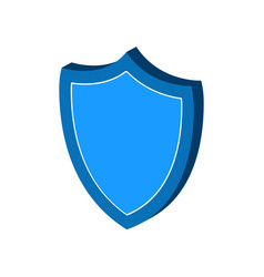 Shield protection symbol flat isometric icon or vector