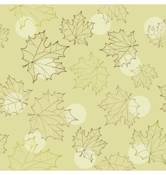 Seamless with autumn leaves - vector