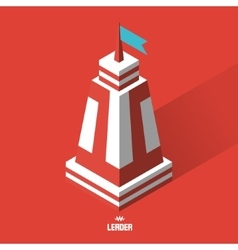Leader concept tower 3d vector