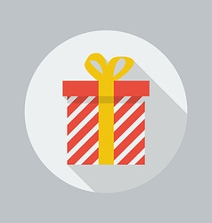 Christmas flat icon gift box vector